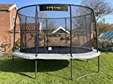 8ft x 11.5ft JumpKing Oval Professional Trampoline with Ladder & Tie Down Kit