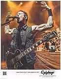 Epiphone - Les Paul Custom - Matthew K. Heafy of Trivium - 2013 Advertisement