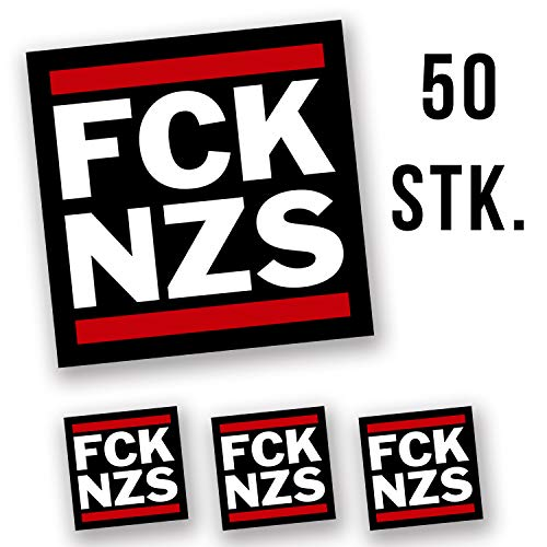 Hellweg Druckerei FCK NZS Aufkleber Sticker 5,2x5,2cm 50 Stück