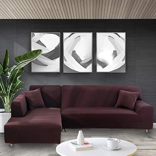 WXQY Funda elástica Blanca para sofá Funda elástica Ajustada Funda para sofá de la Sala de Estar Todo Incluido Funda de sofá antiincrustante Funda de sofá para Silla A9 1 Plaza