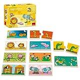 Goula 10 puzzles de 2 piezas de madera con animales de la selva ,...