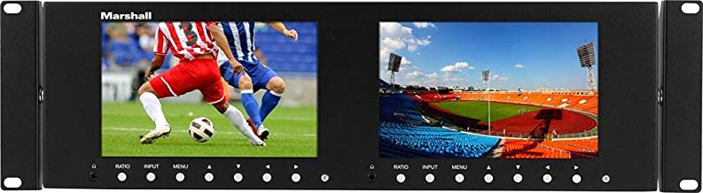 Marshall Electronics M-LYNX-702-V3, Dual 7 Inch 3RU LCD Rack Mount Monitor