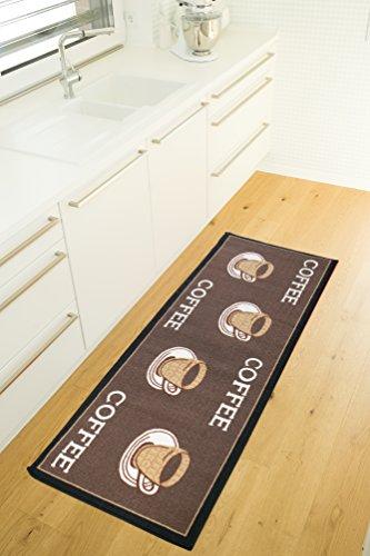 Andiamo 1100335 Küchenläufer Coffee Cups Küchenteppich Tassen Kaffee Oeko Tex, 67 x 180 cm, braun