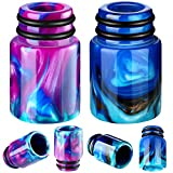 510 Drip Tips Replacement Resin Drip Tip Connector Cover Honeycomb Standard Drip Tip for Coffee Machine Favors Ice Maker (2, Blue, Purple)