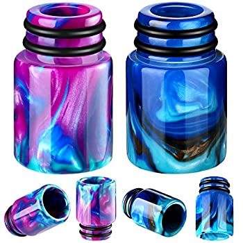 510 Drip Tips Replacement Resin Drip Tip Connector Cover Honeycomb Standard Drip Tip for Coffee Machine Favors Ice Maker  2 Blue Purple
