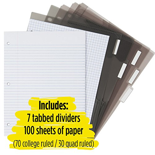 Five Star Flex Hybrid NoteBinder, 1-1/2 Inch Binder with Tabs, Notebook and 3 Ring Binder All-in-One, Purple (72518) Photo #7