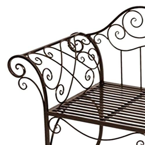 Mojawo nobele tuinbank zitbank van ijzer antiek design zitbank in landelijke stijl kleur bruin
