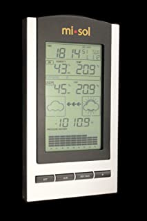 MISOL 1 UNIT of wireless Weather Station with Outdoor Temperature and humidity sensor LCD display, Barometer/Estación meteorológica inalámbrica con la temperatura exterior y la pantalla LCD sensor de humedad, barómetro