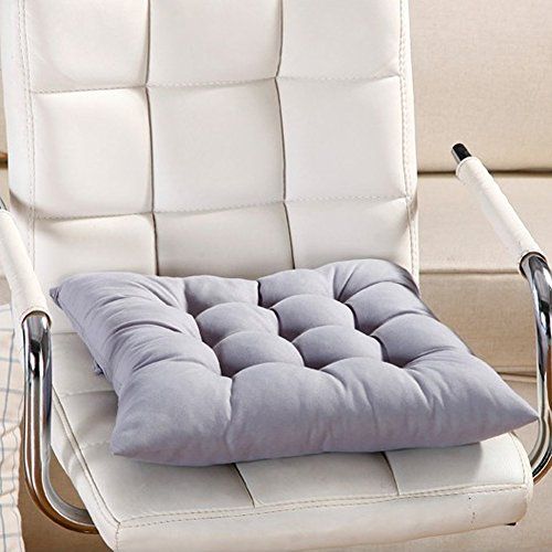 Galette de chaise, 9 couleurs lavable Coussin d'assise de chaise pour salle à manger Jardin de cuisine de voiture free size gris