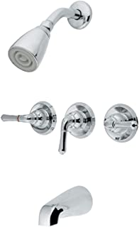 Kingston Brass GKB231 Magellan Tub and Shower Faucet with Three Handles, Chrome