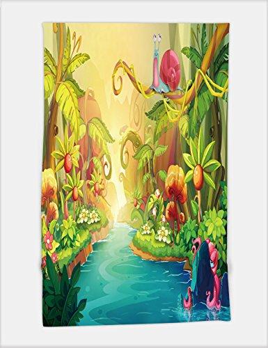 Minicoso Bath Towel Creative Illustration and Innovative Art Fairy River with Snail Realistic Fantastic Cartoon Style Artwork Scene Wallpaper Story Background Card Design 2653 For Spa Beach Pool Bath