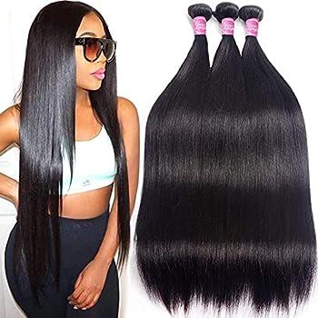 Brazilian Human Hair Bundles Straight 10A Remy Human Hair 3 Bundles 12  14  16  Unprocessed Virgin Brazilian Straight Hair Extensions Grace Length Mink Human Hair Weave Bundles