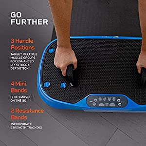LifePro Waver Mini Press Vibration Plate Exercise Machine | Portable Vibrating Platform for Whole Body Fitness, Lymphatic Drainage, Weight Loss, Power Push Ups, Pressotherapy | Max User Weight 265 lb