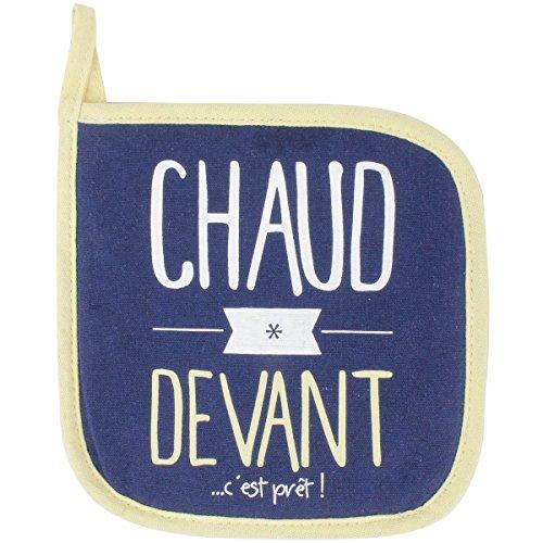 Promobo - Manique De Cuisine Cuisson Imprimée Coton Chaud Devant Bleu