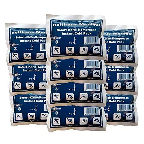 10xHolthaus Medical Kälte-Sofort-Kompressen Kältekompresse Kühlkompresse, Kinder, 10 x 13 cm