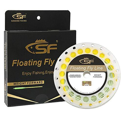 SF Línea de pesca con mosca con lazo soldado peso hacia adelante flotante Fly Line WF4F 90FT