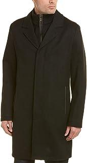 معطف رجالي عصري من الصوف من كول هان مع مريلة مخيطة ميرينو قابلة للإزالة