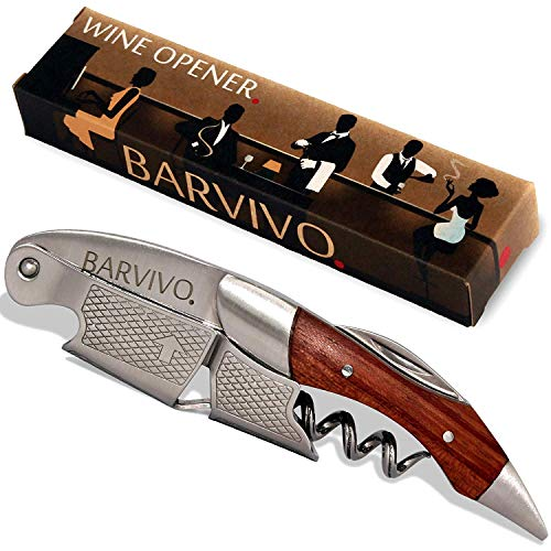 Barvivo Professional Waiters Corkscrew Made of Stainless Steel and Natural Rosewood