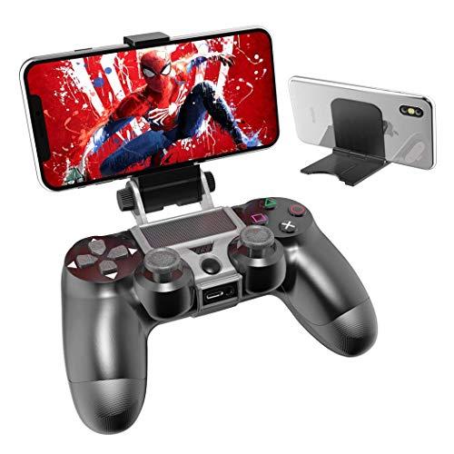 OIVO PS4 Controller Telefoon Afstandsbediening Mount, PS4 Controller Clip Klem Mount Houder met Verstelbare Stand voor Playstation 4 Controller