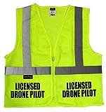 Licensed Drone Pilot Safety Vest, High Visibility Vest (l/XL)