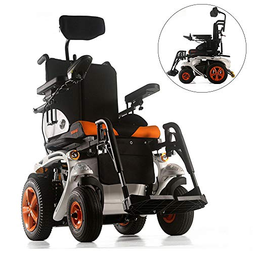 BQT rolstoel, aluminiumlegering, rolstoel met koplampen en achterlichten, draaigigignaal, volledig liggend, vierwielige ouderen, scooter