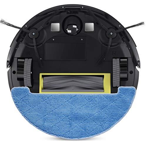 ZACO A8s Saugroboter mit Wischfunktion, App & Alexa Steuerung, 7,2cm flach, automatischer Staubsauger Roboter, 2in1 Wischen oder Staubsaugen, für Hartböden, Fallschutz, mit Ladestation - 6