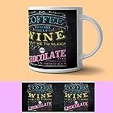 Original Metal Sign Co. - Taza de cerámica para café de vino y chocolate