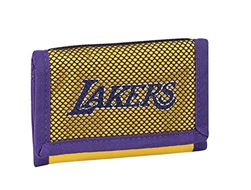 NBA Cartera monedero original Panini Lakers con correa + llavero silbato de regalo