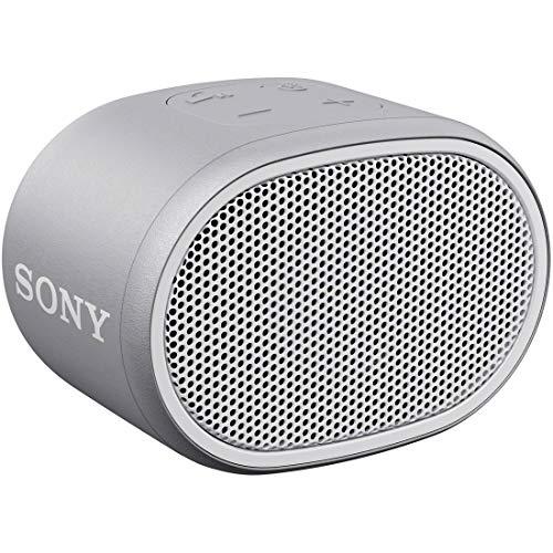 ソニーワイヤレスポータブルスピーカーSRS-XB01W:防水Bluetoothスマホなしで操作可能ストラップ付属2018年モデル/マイク付き/ホワイト