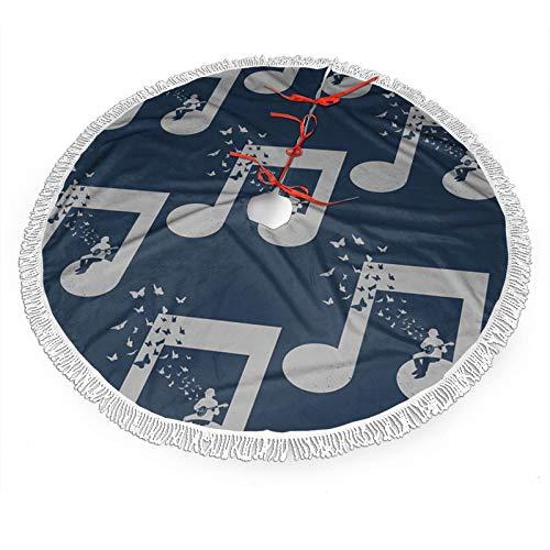 ETONKIDD Christmas Tree Skirt, Banjo - Music Pattern Design Xmas Holiday Party Decoration Xmas Ornaments