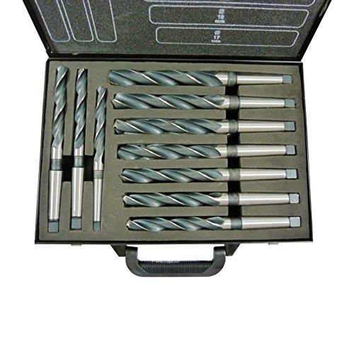 10x Spiralbohrer Bohrer HSS 14-23mm Aufnahme MK1 MK2 DIN345 Typ N Set im Blechkoffer CF Germany NEU - 14mm mit MK 1 und 15-23mm mit MK2 Aufnahme -
