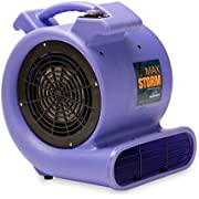 Soleaire SA-MS-PR Max Storm 1/2 HP Durable Lightweight Air Mover Carpet Dryer Blower Floor Fan for Pro Janitorial, Purple,