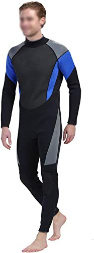 Liergou Costume de Surf de néoprène de Combinaison de Pleine Longueur d'été des Hommes 3mm avec Le Long extracteur de Tirette (Couleur   Noir, Taille   XL)