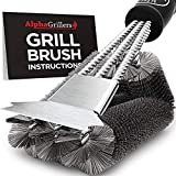 Alpha Grillers Grill Brush and Scraper. Best BBQ Cleaner. Perfect...