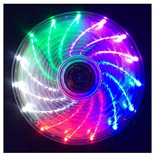 VIVITG 12cm RGB Ultra Silencioso Alto Flujo de Aire Arcoíris Ventilador de Caja, LED Ventilador de Caja de Computadora, por Cajas de PC, Enfriadores de CPU, (4 Paquete)