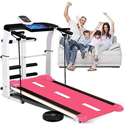 CCJW Cinta de correr plegable pequeña portátil móvil multifuncional aeróbico ejercicio caminadora Carga máxima 150 kg pérdida de peso equipo de ejercicio kshu