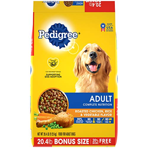 Pedigree Complete Nutrition Adult Dry Dog Food Roasted Chicken, Rice & Vegetable Flavor Dog Kibble, 20.4 Lb Bag