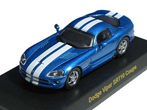 京商 1/64 USAスポーツカー  ミニカーコレクション1  ダッジ・バイパー SRT10 クーペ  青メタリック