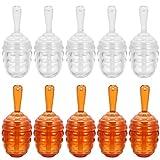 Minkissy 10 Unidades de 5Ml con Forma de Honecomb Tubos de Brillo de Labios con Varita de Panal Vacío Envases de Bálsamo Labial Dispensador de Botellas Tubos de Pintalabios para Mujeres Y