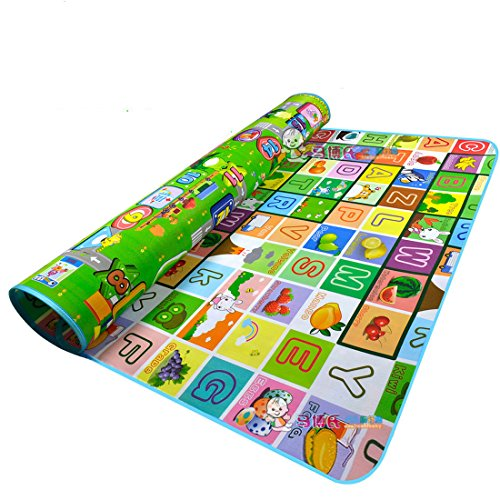 Garwarm 71x 59inches Extra Large Baby Crawling Mat Baby Play Mat Game Mat?0.2-Inch Thick (US Store)