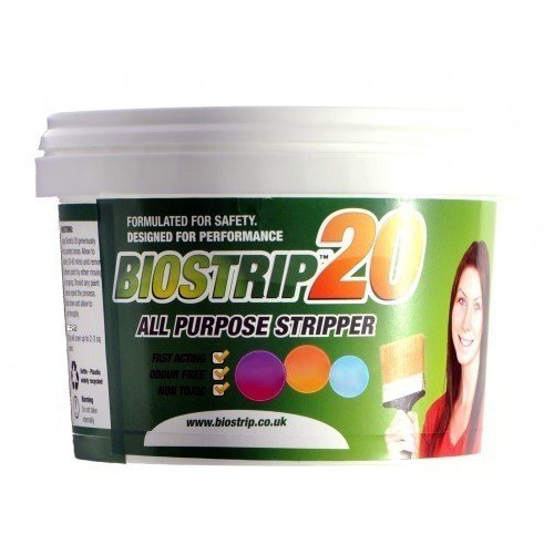 Biostrip 20 Paint Stripper 500ml, Paint Remover. Water Based Solution to effortlessly Remove Paint and Varnish from Wood, Brick, Concrete, Metal, uPVC, Glass and More