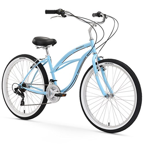 Read About Firmstrong Urban Lady Three Speed Beach Cruiser Bicycle, 24-Inch, Baby Blue