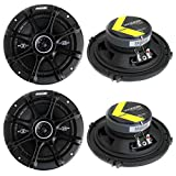 4) Kicker 41DSC654 D-Series 6.5' 480 Watt 2-Way 4-Ohm Car Audio Coaxial Speakers