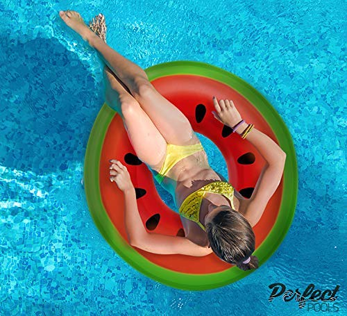 Gonfiabile Gigante Ufficiali 'Pools Perfetto' Watermelon Rubber Ring | Piscina Galleggiante 110 Centimetri