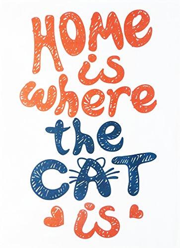 Home est où le chat est Coton Torchon par moitié d'un âne
