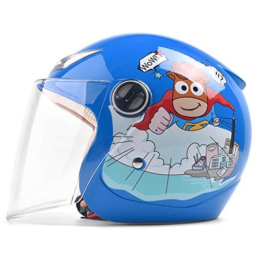 TBYGG Kinderhelm Verstelbare Ventilatie Winter Winddicht Warm Cartoon ABS Anti-botsing Materiaal HD Slijtvast Zonnekap Lens Winddicht, regendicht, hoofd Bescherming