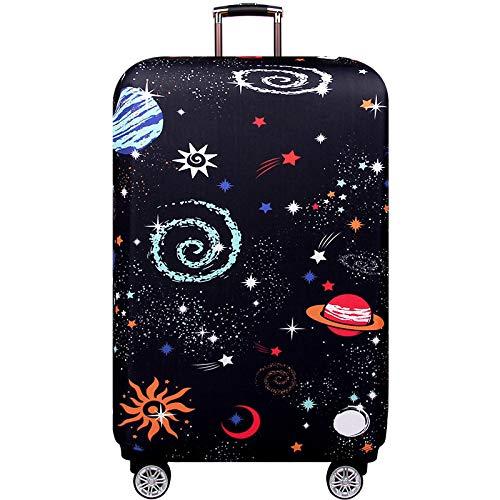 Youth Union スーツケースカバー 伸縮素材 欧米風 キャリーバッグ お荷物カバー (S(18-21 inch luggage), うちゅう)