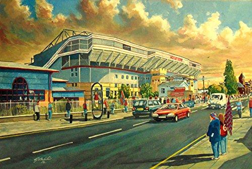 Upton Park Stadium 'Naar de wedstrijd gaan' A4 Print - West Ham United FC