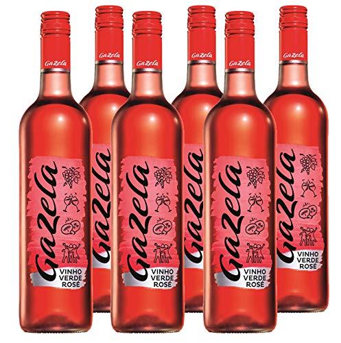 Vino Rosado Gazela (DOC Vinho Verde) - 6 botellas de 750 ml - Total: 4500 ml