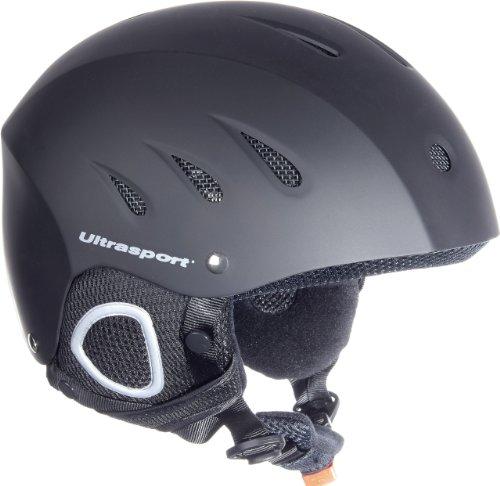 Ultrasport Men's Race Edition Ski Helmet, Snowboard Helmet for Men and Women, Winter Sports Helmet with 17 Air Slits, Padded Chin Strap, Ski Goggles Clip, Matt Black, Adjustable, Black, L